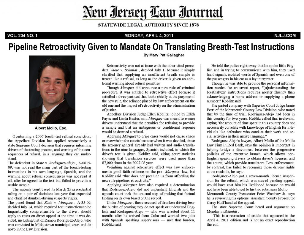 NJLJ Article.Rodriguez.4.6.11